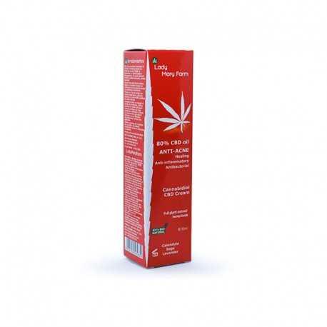 Crema CBD Anti-Acnee 80% CBD